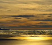 Skyline with clouds on the sea at dawn. Skyline with clouds at dawn Royalty Free Stock Image