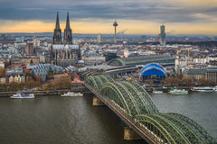 Skyline of Cologne, Germany Stock Image