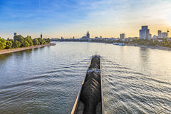 Skyline of Cologne with river Rhine Royalty Free Stock Photos