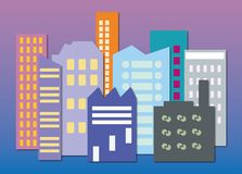 Skyline color royalty free illustration