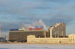 Skyline colorida da cidade Imagem de Stock