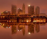 Skyline Columbus-, Ohio am Sonnenaufgang stockfoto