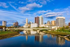 Skyline Columbus, Ohio, USA lizenzfreie stockbilder