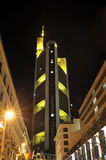 Skyline Commerzbank ragen in Frankfurt hoch Stockbild