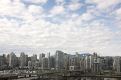 Skyline of Condominiums in Vancouver, British Columbia, Canada Stock Photos
