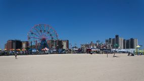 Skyline Coney Islands Brooklyn New York Lizenzfreie Stockbilder