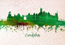 Skyline Cordobas Spanien lizenzfreie abbildung