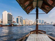 Skyline The Creek and Deira from abra watertaxi Stock Images