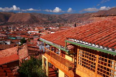 Skyline in Cuzco Royalty Free Stock Photos