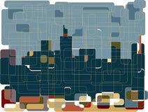 Skyline da arquitectura da cidade Fotos de Stock