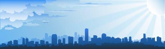Skyline da arquitectura da cidade Foto de Stock