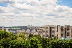 Skyline da arquitetura da cidade de Belgorod, Rússia Vista aérea na luz do dia Foto de Stock