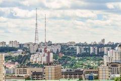 Skyline da arquitetura da cidade de Belgorod, Rússia Vista aérea na luz do dia res Imagem de Stock Royalty Free