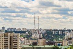 Skyline da arquitetura da cidade de Belgorod, Rússia Vista aérea na luz do dia res Foto de Stock Royalty Free