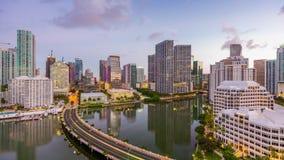 Skyline da baía de Miami, Florida, EUA Biscayne video estoque