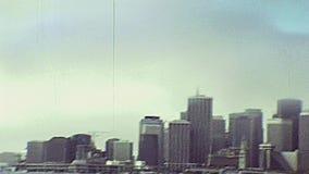 Skyline da baía de Oakland video estoque