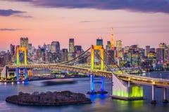 Skyline da baía do Tóquio Fotografia de Stock