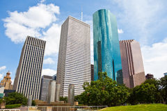 Skyline da baixa da arquitectura da cidade de Houston Texas Foto de Stock
