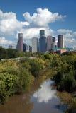 Skyline da baixa da cidade de Houston Foto de Stock Royalty Free