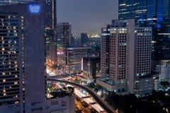Skyline da baixa de Banguecoque Fotos de Stock