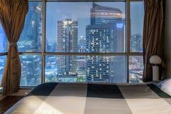 Skyline da baixa de Banguecoque Foto de Stock Royalty Free