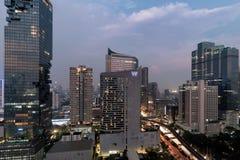 Skyline da baixa de Banguecoque Imagem de Stock