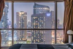 Skyline da baixa de Banguecoque Foto de Stock