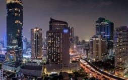 Skyline da baixa de Banguecoque Fotografia de Stock