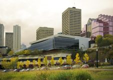 Skyline da baixa de Edmonton Imagens de Stock