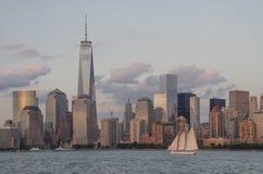 Skyline da baixa de Manhattan Fotografia de Stock