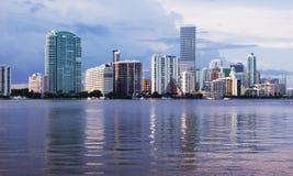 Skyline da baixa de Miami Fotos de Stock Royalty Free