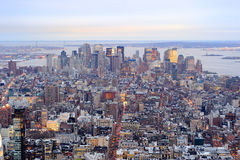 Skyline da baixa de New York City Manhattan Fotografia de Stock Royalty Free