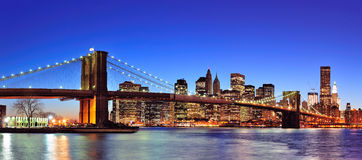 Skyline da baixa de New York City Manhattan Imagem de Stock