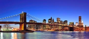 Skyline da baixa de New York City Manhattan Imagem de Stock