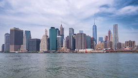 Skyline da baixa de New York City Manhattan Foto de Stock Royalty Free