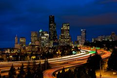 Skyline da baixa de Seattle Imagens de Stock Royalty Free