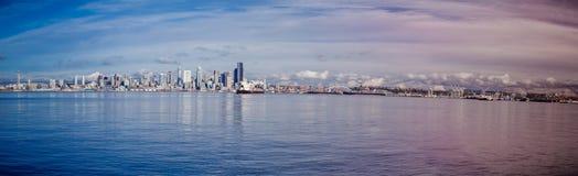 Skyline da baixa de Seattle fotos de stock