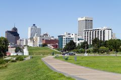 Skyline da baixa do parque de Memphis Imagem de Stock Royalty Free