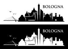 Skyline da Bolonha - Itália - ilustração Foto de Stock