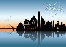 Skyline da Bolonha - Itália - ilustração Imagem de Stock
