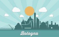 Skyline da Bolonha - Itália - ilustração do vetor Imagens de Stock