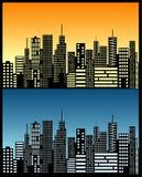 Skyline da cidade Imagem de Stock