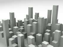 skyline da cidade 3d ilustração royalty free