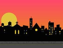Skyline da cidade. Fotografia de Stock