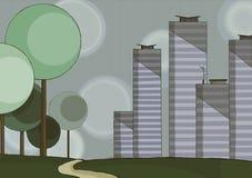 Skyline da cidade Fotografia de Stock