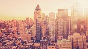 Skyline da cidade da manhã Imagens de Stock