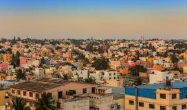 Skyline da cidade de Bangalore imagens de stock