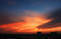 Skyline da cidade de Banguecoque Imagens de Stock