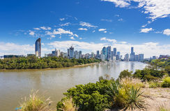 Skyline da cidade de Brisbane Foto de Stock Royalty Free