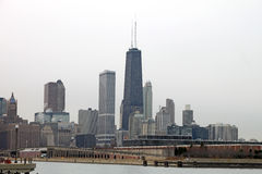 Skyline da cidade de Chicago fotos de stock royalty free